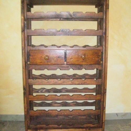 portabottiglie legno