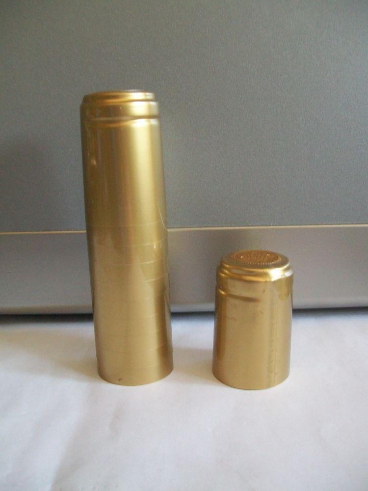 Capsule termoretraibili oro.